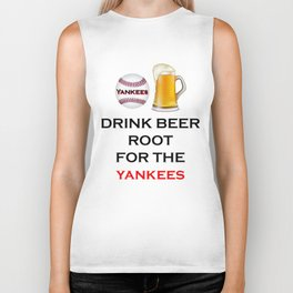 Yankees Team Gifts and Beer, Baseball Team, Sports Fan Clothes Biker Tank