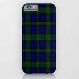 "CAMPBELL CLAN  ""BLACK WATCH"" SCOTTISH  TARTAN DESIGN iPhone Case"