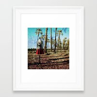 hollywood Framed Art Prints featuring Hollywood by Loveurstyle