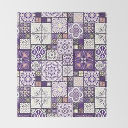 Moroccan Tile Pattern III Throw Blanket
