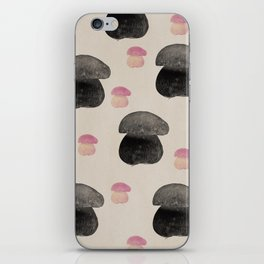 Black mushroom iPhone Skin