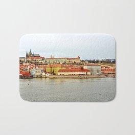 Vltava river and Prague Castle panorama Bath Mat
