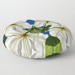 Clematis Solaris Floor Pillow