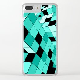 Rubik series 1, mint Clear iPhone Case