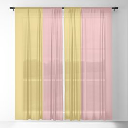 Color Block Abstract XIII Sheer Curtain