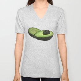 Avocado Cat Unisex V-Neck