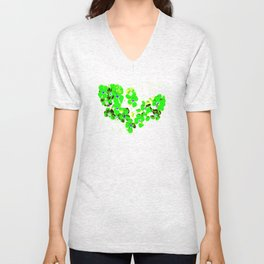 Green Heart Unisex V-Neck