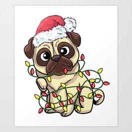 tangled pug Art Print