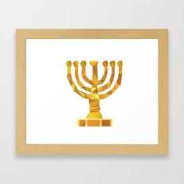 Menora Framed Art Print