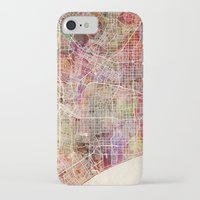 los angeles iPhone & iPod Cases featuring Los Angeles by Map Map Maps
