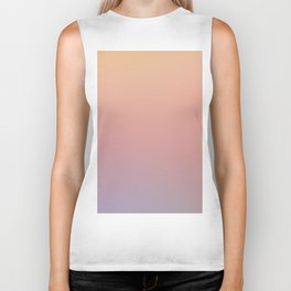 AFTER THOUGHTS - Minimal Plain Soft Mood Color Blend Prints Biker Tank