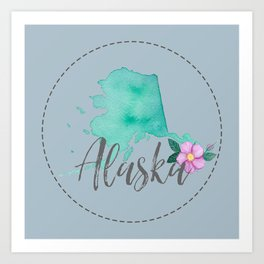 Alaska Love Art Print