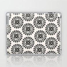 Bohemian Medallions - Dark gray and cream Pattern Laptop & iPad Skin