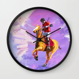 power of polo Wall Clock