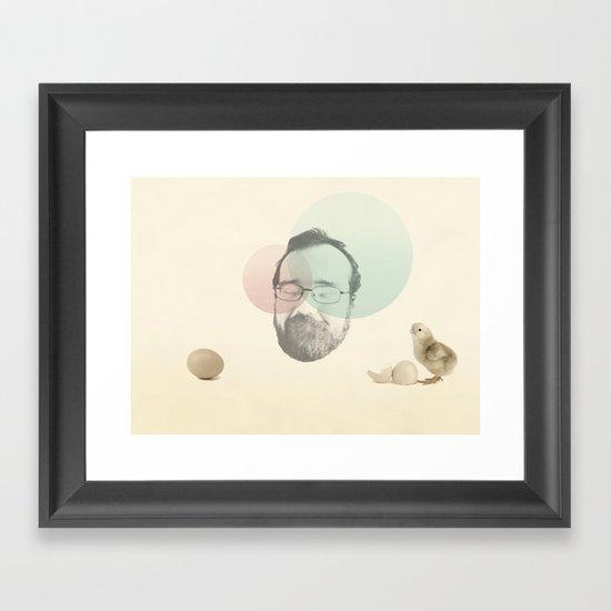 chicken and the egg Framed Art Print