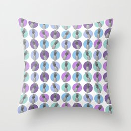 pastel pineapples Throw Pillow