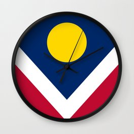 Denver, Colorado City Flag Wall Clock