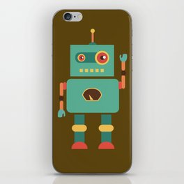 Fun Robot Toy Graphic iPhone Skin