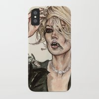 kate moss iPhone & iPod Cases featuring Kate Moss by vooce & kat