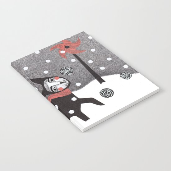 Snow Cat Notebook