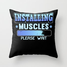 Muscle Building Protein Sport Bodybuilding Gift Throw Pillow