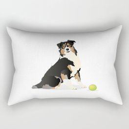 Australian Shepherd Dog Rectangular Pillow
