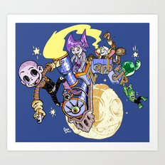 Zombie Jr Moon Art Print