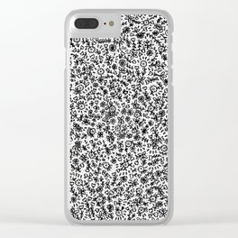 Black little flowers Clear iPhone Case