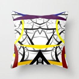 geometric architecture Throw Pillow