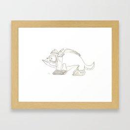 Dog Lurker Framed Art Print