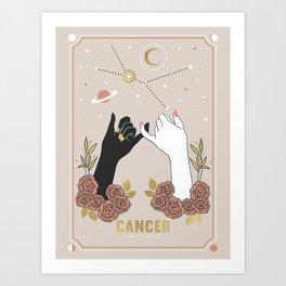 Cancer Zodiac Series Art Print