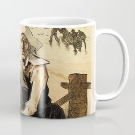 1890 Drowned fishermen charity ball by Chéret Coffee Mug