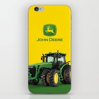 john green iPhone & iPod Skins featuring John Deere Green Tractor by rumahcreative