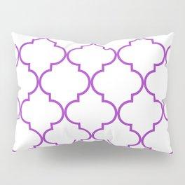 Quatrefoil - purple Pillow Sham