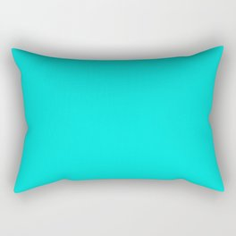 Bright Turquoise - solid color Rectangular Pillow