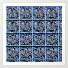 Blue windows Art Print