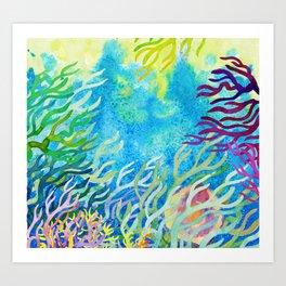 Underwater seaweed Art Print