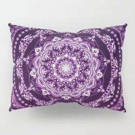 Purple Glowing Soul Mandala Pillow Sham