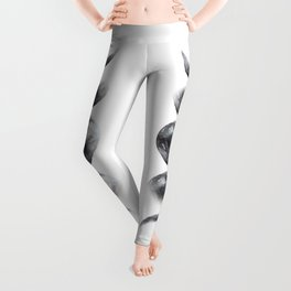Moon phases watercolor painting Leggings