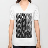dallas V-neck T-shirts featuring Building8 Dallas by SarahGW