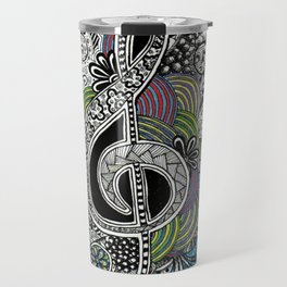 Musical Zentangle Travel Mug