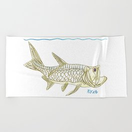 Key West Tarpon II Beach Towel