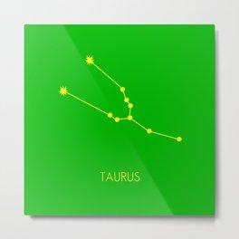TAURUS (YELLOW-GREEN STAR SIGN) Metal Print