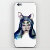 meow iPhone & iPod Skins featuring Meow by Andreea Maria Has