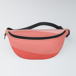 Living Coral Sushi Salmon Abstract Fanny Pack
