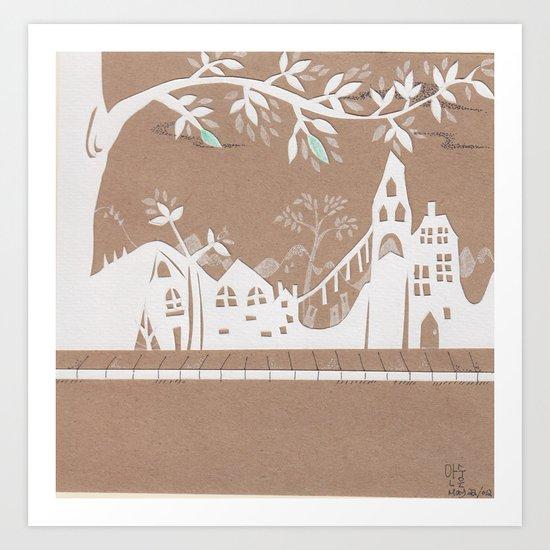 White Town Art Print