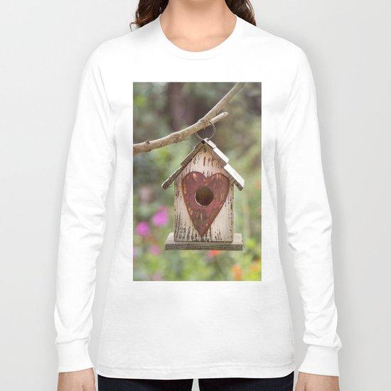 bird house in summer garden Long Sleeve T-shirt