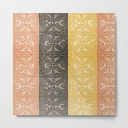 COLOR BLOCKING TAPA CLOTH DESIGN Metal Print