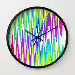 Rainbow rhombus Wall Clock