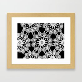 lace ornament Framed Art Print